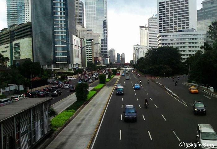 Skyline along Thamrin Street