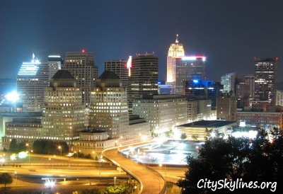 Photo of Cincinnati's skyline at night