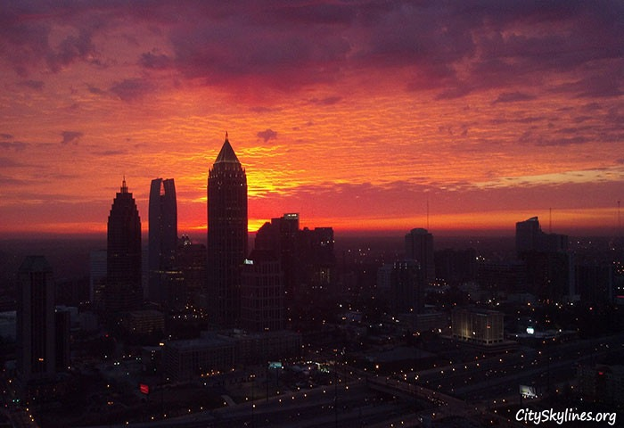 Morning sunrise of North Midtown Atlanta