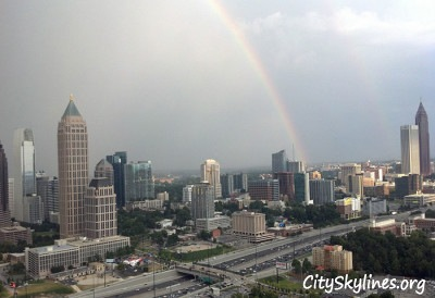Rainbow shot of North Midtown Atlanta
