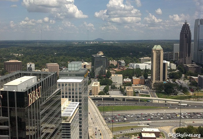 Stone Mountain from the 43rd floor Atlanta