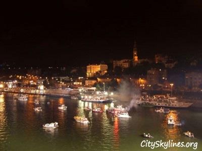 Belgrade, Serbia Night River View