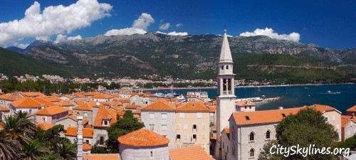 Budva, Montenegro City Skyline - Europe