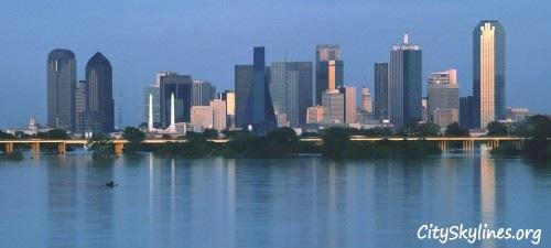Dallas Skyline Water View