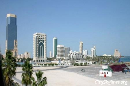 Doha Qatar Day Skyline