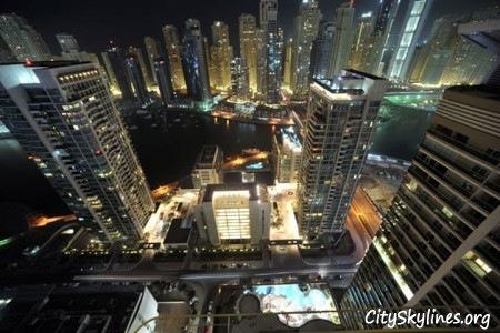 Dubai City Skyline at night