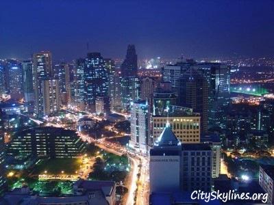 Manila City Skyline at night