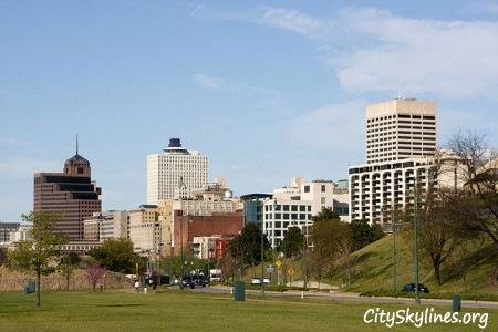 Memphis City Skyline, Tennessee