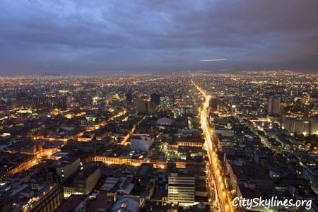 Mexico City Skyline Lights
