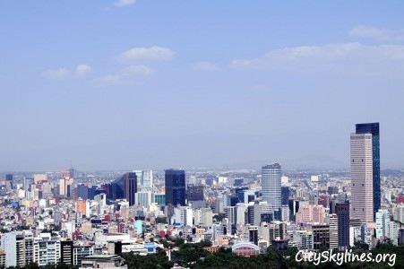 Mexico City Skyline, Mid Day