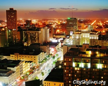 New Orleans City Skyline at Night