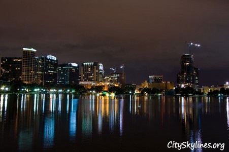 Orlando City Skyline at Night