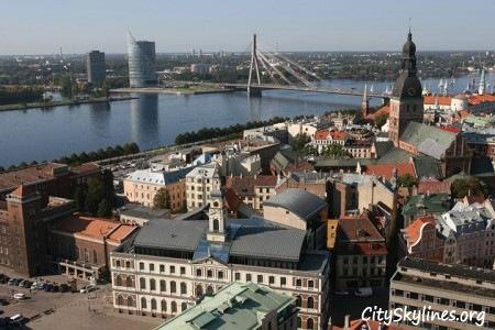 Riga Skyline, River overlook