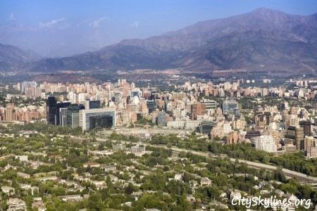 Santiago Chile, Mountain Skyline