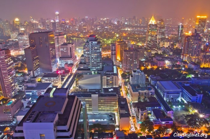 Bangkok City Skyline at Night