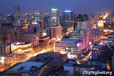 Beijing City Skyline at Night, China