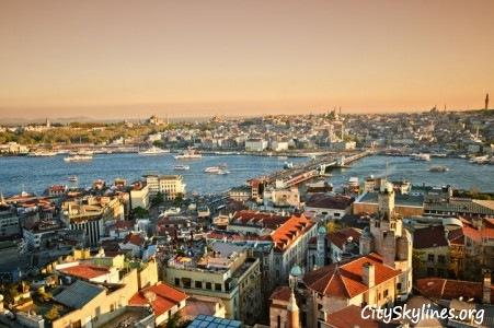 Istanbul City Skyline, Turkey - Sunset