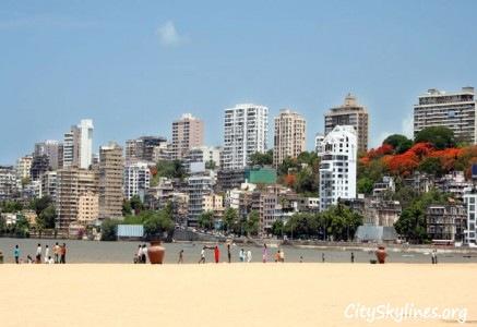 Mumbai City Beach Skyline, India