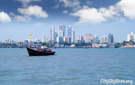Boat View of Mumbai City