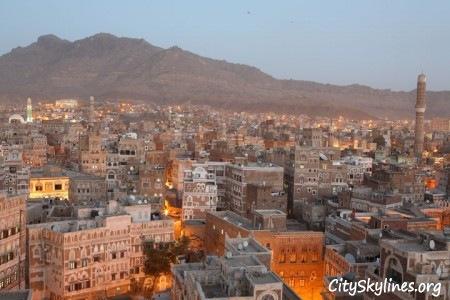 City of Sana'a at Dusk