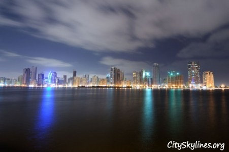City of Sharjah at Night