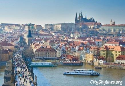 Prague City Skyline, Czech Republic - Charles Bridge
