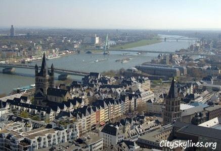 Cologne Skyline - Rhine River Overlook