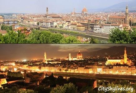 Florence City Skyline - Day & Night