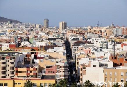 Las Palmas Skyline in the Canary Islands