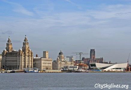 Liverpool Skyline, England - Water View