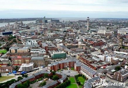 Liverpool, England Skyline - Building Top Overlook