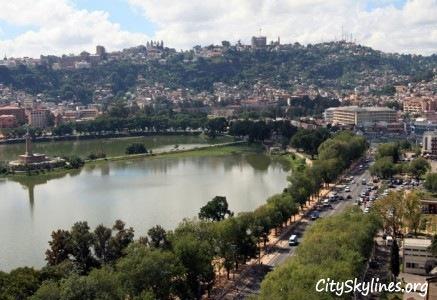 Antananarivo City Skyline, Madagascar - Lake Overlook