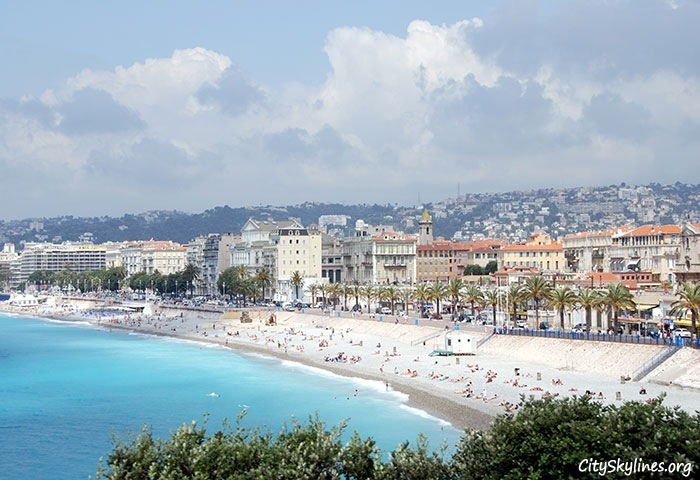City of Nice Skyline, France - Beach View
