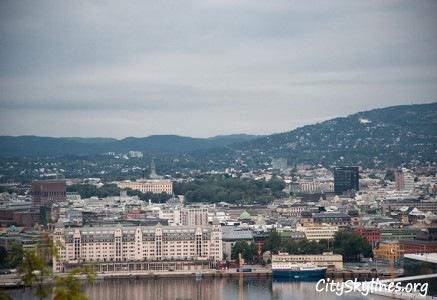 Oslo City Skyline - Mountain Backdrop