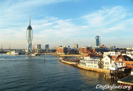 Portsmouth City Skyline, England - Harbor View
