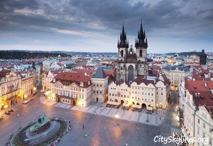 Prague Skyline - Town Center