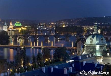 City of Prague at Night, Czech Republic