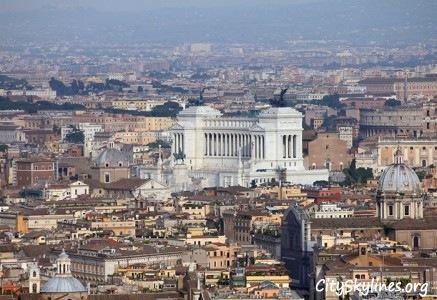 Rome Skyline - View of the Vittorio