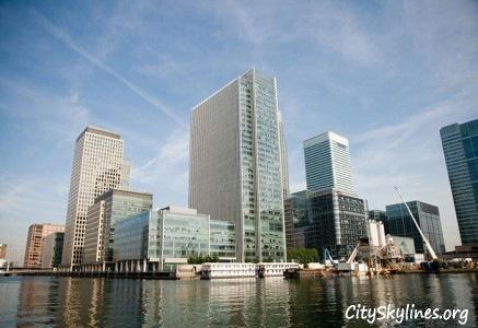 London City Skyline, England - Docklands Area