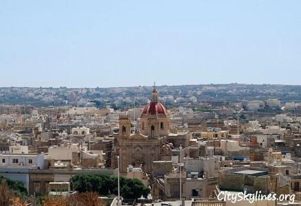 Victoria City Skyline in Gozo - Malta