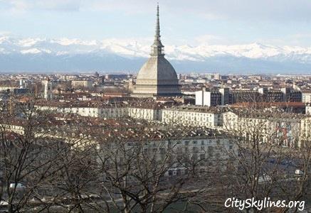 Turin City Skyline, Italy - Mountain View