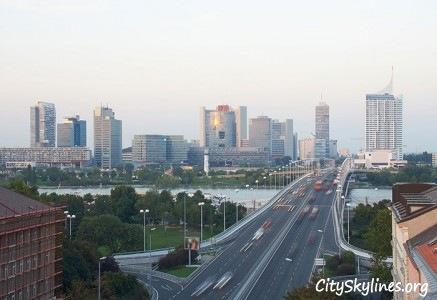 Vienna City Skyline, Downtown View