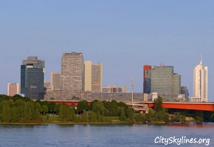 Vienna City Skyline, River View