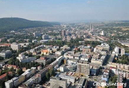 Zlín City Skyline, Mountain Backdrop