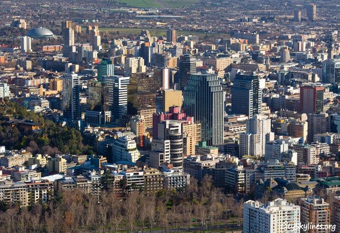 Downtown Santiago City Skyline