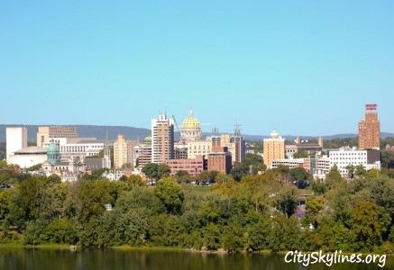 Harrisburg, PA City Skyline
