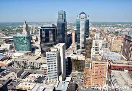 Kansas City Skyline, KS - Day View