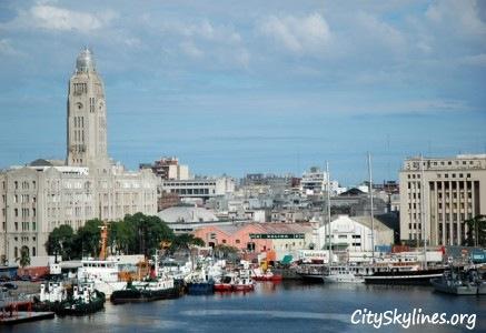 Montevideo Harbor Skyline