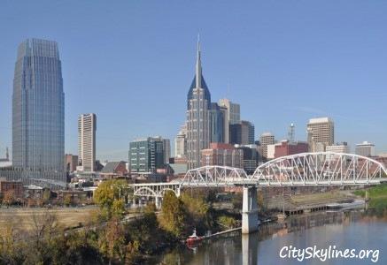 Nashville City Skyline, Tennessee