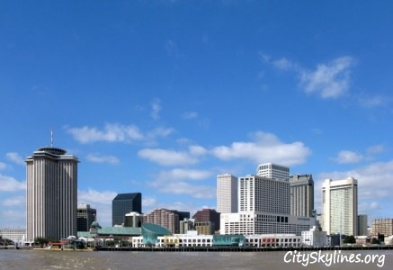 New Orleans City Skyline - Blue Skies